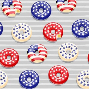 Stars and Stripes - Flag Donuts - Grey stripes LAD19