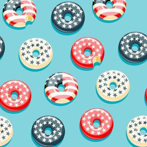 Stars and Stripes - Flag Donuts - blue 2 LAD19