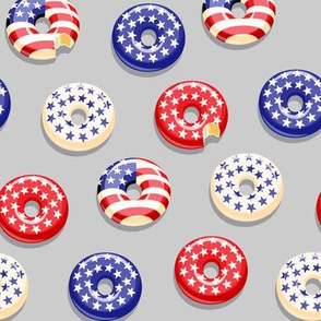 Stars and Stripes - Flag Donuts - Grey LAD19