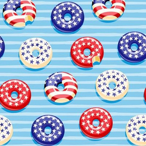 Stars and Stripes - Flag Donuts - Blue Stripes LAD19