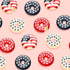 Stars and Stripes - Flag Donuts - Pink LAD19