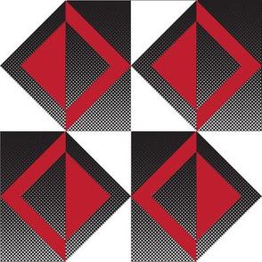 Mid-Century Red Squares