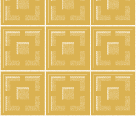 breezeblock Gold white fabric by booboo_collective on Spoonflower - custom fabric