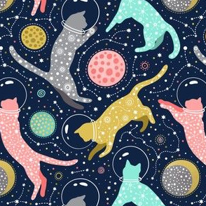 Cats in space medium size