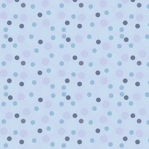 Blue and Purple Spots and Dots