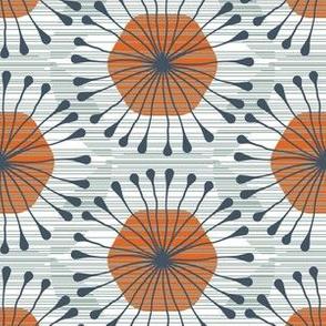 HexBloom (sage_ blue_ orange)