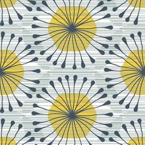 HexBloom (sage_ blue_ yellow)