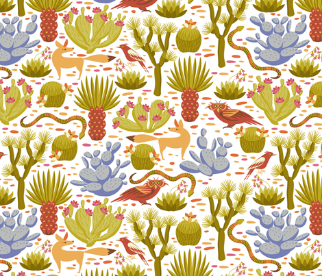 desert life fabric by cjldesigns on Spoonflower - custom fabric