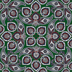Moody Floral Paisley Clover Design Challenge