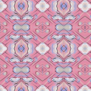 Soft Pink Fluffy Painted Shapes Pattern