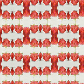 Distorted Fruity Strawberry Pattern