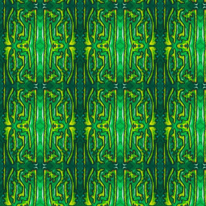 Green and Yellow Abstract Weird Painting