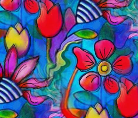 Big Bold & Beautiful! fabric by floramoon on Spoonflower - custom fabric