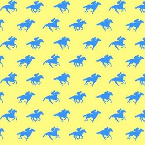 Yellow Blue Race Horses, Tiny