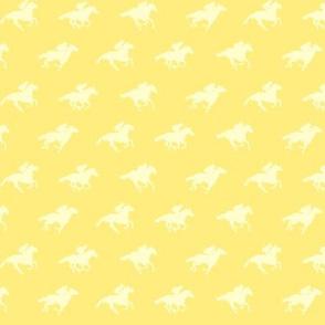 Yellow Race Horses 1, Tiny