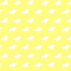 Yellow White Race Horses, Tiny