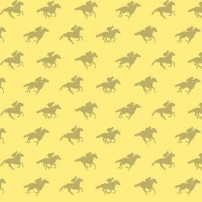 Race Horses Yellow 2, Tiny