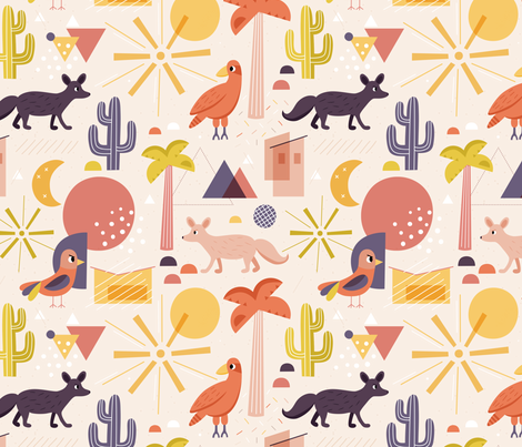 in-modernism-desert fabric by la_fabriken on Spoonflower - custom fabric