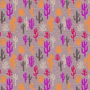 Modern cactus - purple