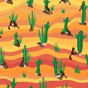 Hopping in the desert