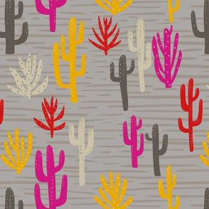 Modern cactus desert