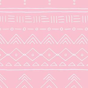 Minimal mudcloth bohemian ethnic abstract indian summer aztec design pink girls