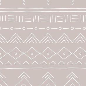 Minimal mudcloth bohemian ethnic abstract indian summer aztec design gender neutral beige