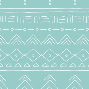 Minimal mudcloth bohemian ethnic abstract indian summer aztec design blue baby boy