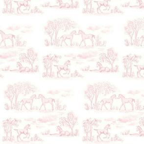 Pink Pony Toile