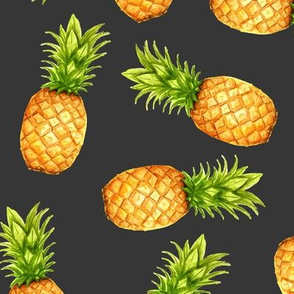 Summer Pineapple in Gray V02