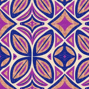 Abstract Bohemian Butterfly in Pink and Purple