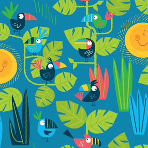Toucans (blue)