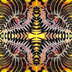 Gold Bright Abstract Design
