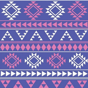 Purple and Pink Aztec