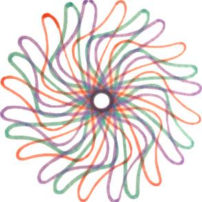 Spirograph Pinwheel Pattern