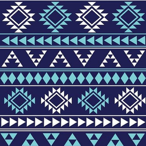 Navy and Blue Aztec