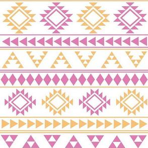 Pink and Orange Aztec