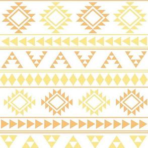 Yellow and Orange Aztec