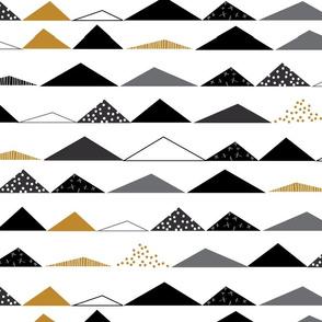 modern triangles with mustard   black-01-ch