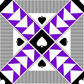 """6"""" Wild Goose Chase Quilt Block Asexual Pride"""