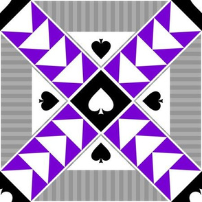 """9"""" Wild Goose Chase Quilt Block Asexual Pride"""