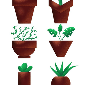 Potted flowers pattern