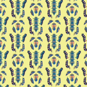 Symmetry Caterpillar - Yellow