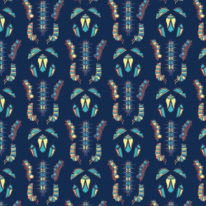 Symmetry Caterpillar - Dark Blue