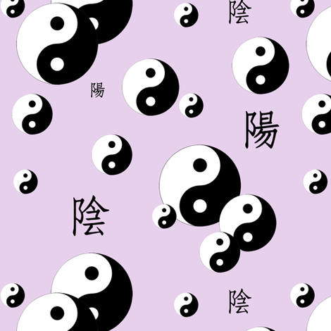 yin and yang - light lilac fabric by stofftoy on Spoonflower - custom fabric