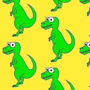 Cute T Rex - on yellow