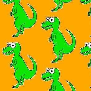 Cute T Rex - on orange