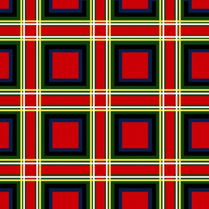Large and Red Tartan