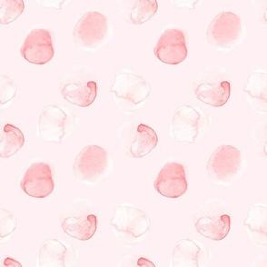 Small Blush hand drawn watercolor dots on blush pink - Mix & Match