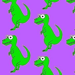 Cute T Rex - on purple